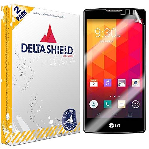 DeltaShield Screen Protector for LG Volt 2 (2-Pack) BodyArmor Anti-Bubble Military-Grade Clear TPU Film (Cases Lg Disney Volt Phone)