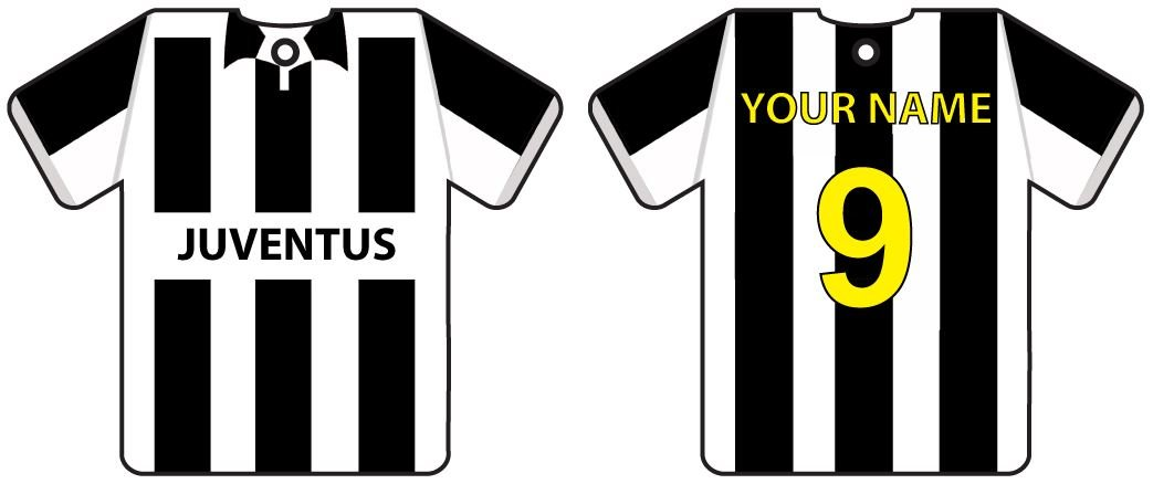 reputable site 68935 89f0e Personalized Juventus Football Shirt Car Air Freshener