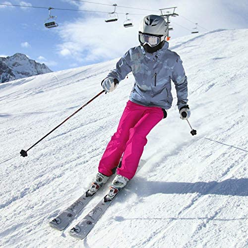 Ohuhu Women's Essential Insulated Snow Bibs Overalls, Ladies Ski Bibs Pants