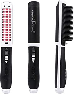 Hair Straightener and Curler 2-in-1 with Anti-Scald Technology, Fast Heating (30s), 6 Heat Levels for Every Hair Type, Auto Off, 360 Swivel Cord, Portable Straightening Iron or Curling Iron (White)