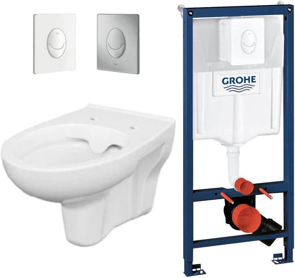 Rapid 3in1 Grohe WC-Sitz Chrom Dr/ückerplatte Bernado WC