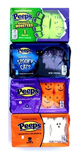 Peeps Halloween Marshmallow Assortment Spooky Cats, Pumpkins, Monsters & Ghosts