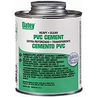 Oatey 31008 PVC Heavy Duty Cement, Clear, 32-Ounce by Oatey