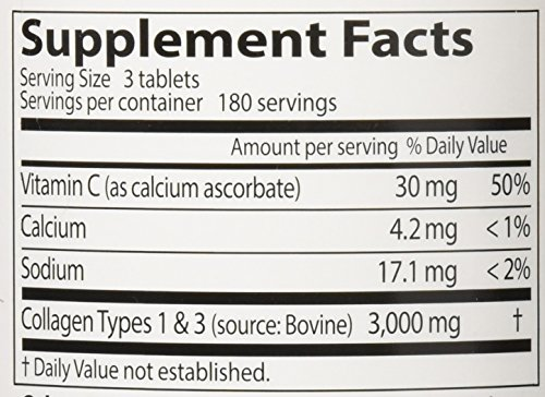 Doctor's Best Collagen Types 1 and 3 with Peptan, Non-GMO, Gluten Free, Soy Free, Supports Hair, Skin, Nails, Tendons and Bones, 1000 mg, 540 Tablets