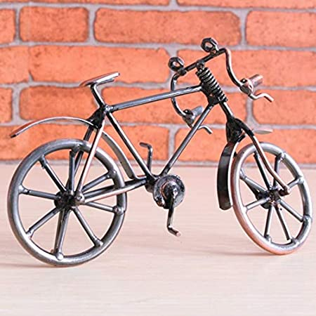 Goldyqin Modelo de Bicicleta Antigua Metal Craft Decoración del ...