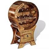 Festnight Vintage Freestanding Wooden Wine Rack 10 Bottles Solid Reclaimed Wood