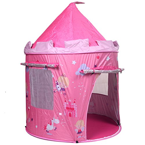 play tents portable pink folding play kids pop up tent. Black Bedroom Furniture Sets. Home Design Ideas