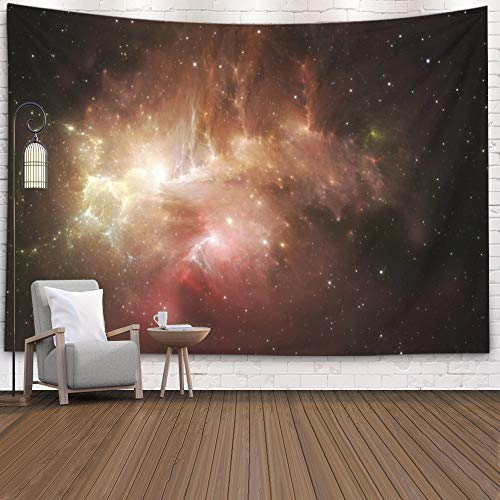 Gesmatic Living Room Tapestry, 80X60 Inches Wall Hanging Large Style Space Nebula Use Projects Science Research Education Traditional Tapestry Multicolor Pattern Printed,Red Green