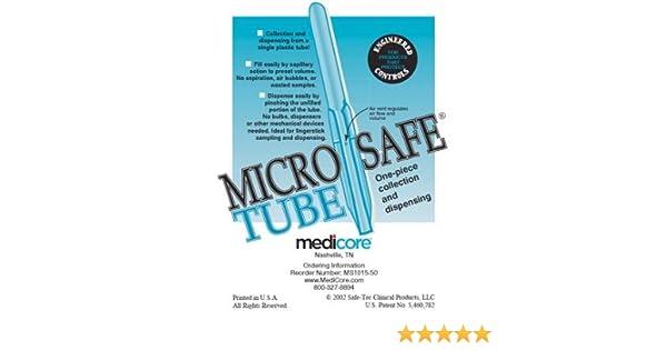 Amazon com: Medicore Medical Supply 1015-50 MicroSafe Capillary Tube