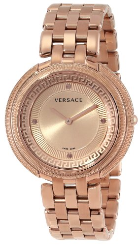 """Versace Women's VA7050013 """"Thea"""" Rose Gold Ion-Plated Stainless Steel Watch with Link (Versace Clock)"""