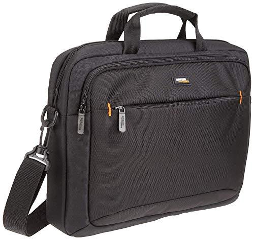 AmazonBasics 14-Inch Laptop Macbook and Tablet Shoulder Bag Carrying Case, Black, 1-Pack