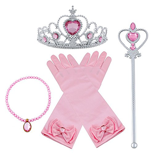 4Pcs Girls Sleeping Beauty Costume Accessories Set-Princess Tiara