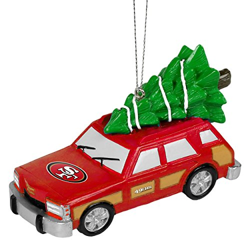 NFL Station Wagon With Christmas Tree Ornament-San Francisco 49ers