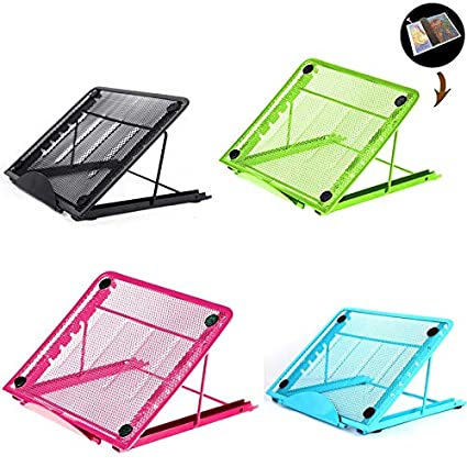 24x19x1.5cm, Blue Paper Pad Holder with Binder Clips for Laptop LED Light Table A4 LED Tracing Light Board /&Diamond Painting Ventilated Adjustable Light Box Laptop Pad Stand