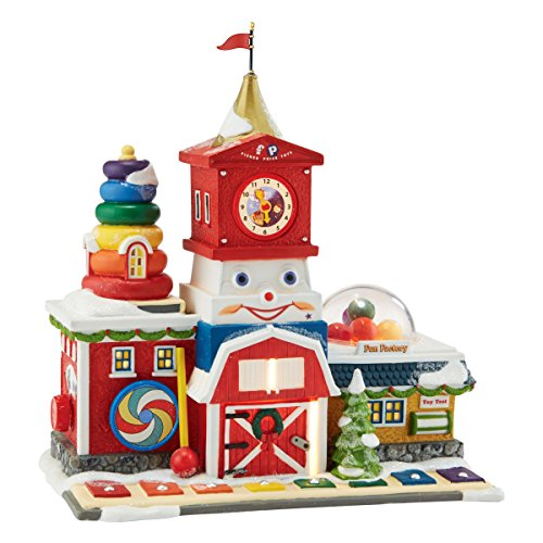 Department 56 North Pole Village Fisher-Price Fun Factory Lit House, 8.27 inch by Department 56 (Image #2)