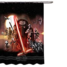 "Star Wars Ep7 Poster 70"" x 72"" Fabric Shower Curtain"