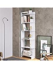 Estante para Livros com 6 Prateleiras Completa Móveis Branco