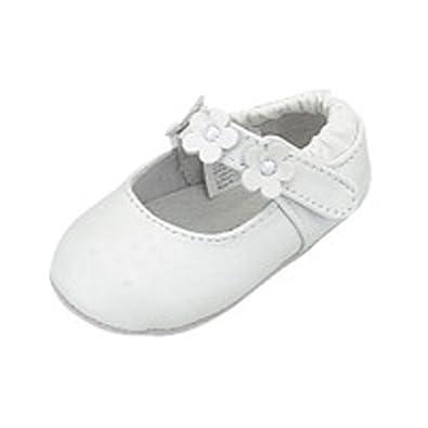 f97e54294ae Infant Baby Girls Size 0 White Flower Ballerina Style Summer Shoes