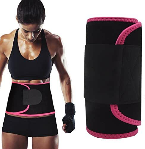 Singular point Waist Trimmer,Best Abdominal Trainer Adjustable Sweat Belt AB Belt Stomach Fat Burner Fast Weight Loss Wrap Body Shaper for Men and Women Back Lumbar Support with Sauna Suit Effect