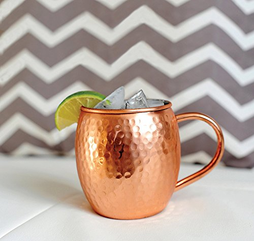 12 PACK Alchemade Copper Barrel Mug for Moscow Mules - 16 oz - 100% Pure Hammered Copper - Heavy Gauge by Alchemade (Image #2)