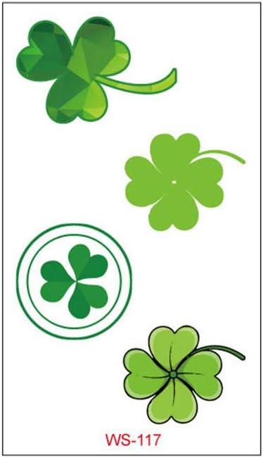 Shamrock Stickers Roll Sticker,Green Irish Clover Stickers for Irish St Patricks Day Party Favor Supplies Window Gift Card Clothing Decoration Patricks Day Stickers Konsait 500pcs St