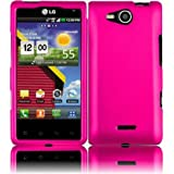 For LG Optimus Exceed Hard Cover Case Hot Pink Accessory