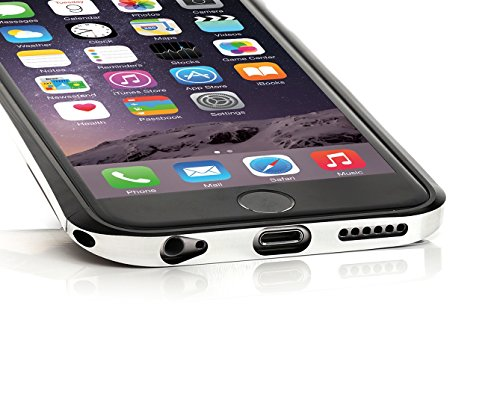 ArktisPRO Galactic Aluminium Bumper Hülle für Apple iPhone 6 Plus schwarz/silber