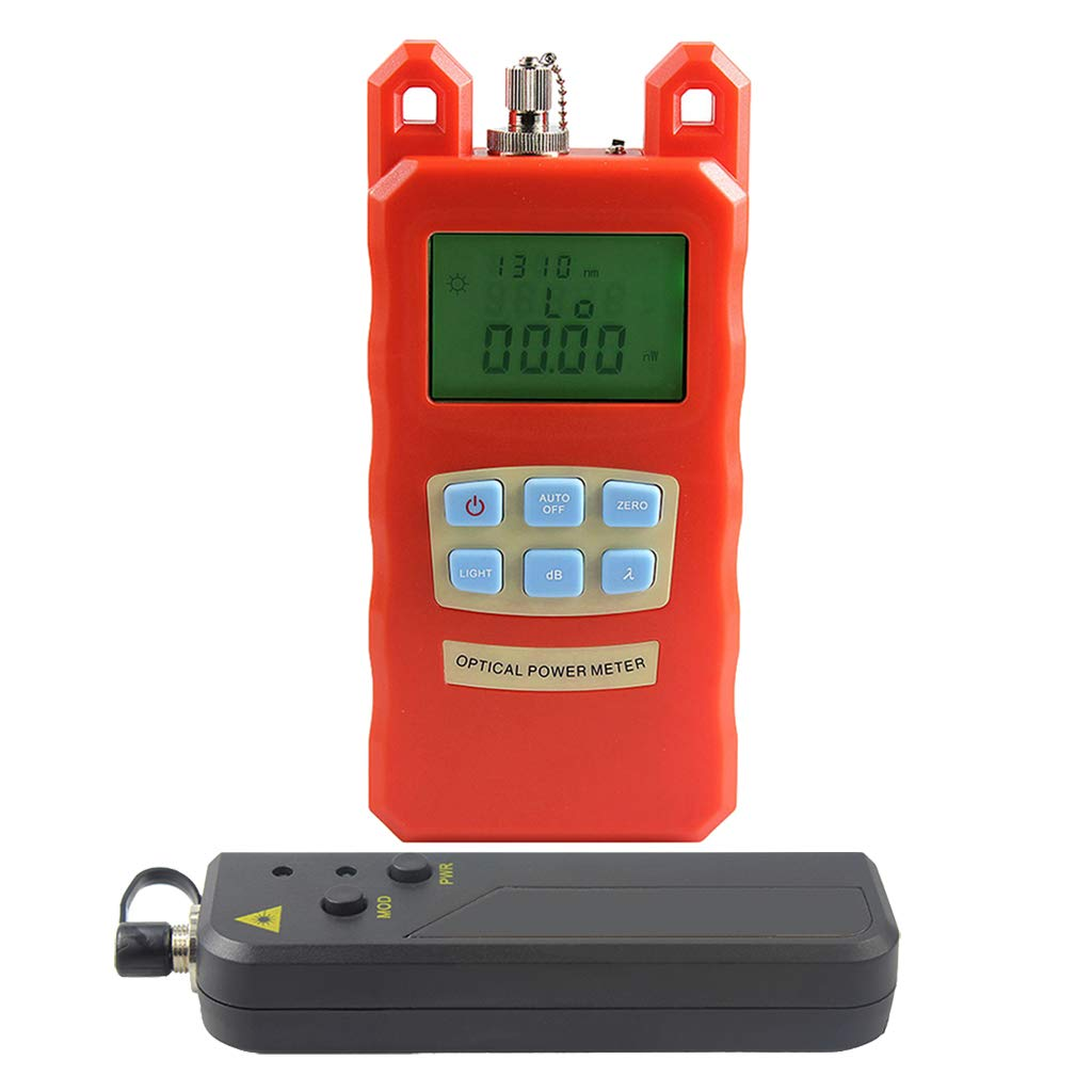 SM SunniMix -70dBm~+10dBm 850~1625nm Optical Power Meter Tester FC SC Handheld Optical Power Meter + with 30mW Visual Fault Locator by SM SunniMix (Image #5)