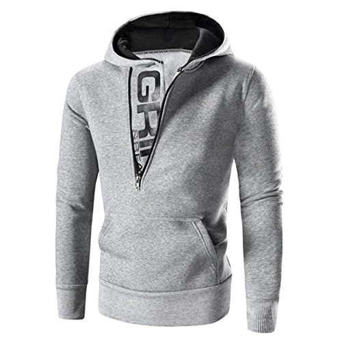 capucha con con Hombres ropa hombre Sudaderas baratas capucha chaqueta Gris de abrigo Amlaiworld 4CgEWnwq