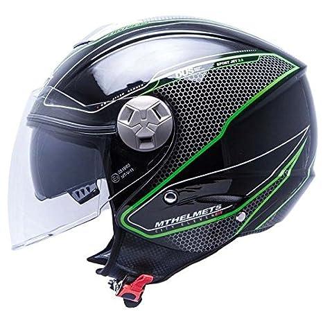 MT casco de moto jet CITY-ELEVEN DYNAMIC-Casco para moto doble pantalla,