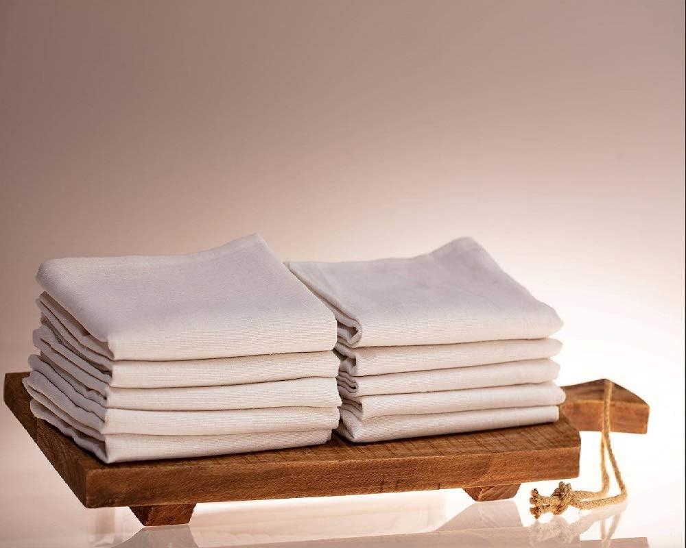 Geschirrtuch aus Baumwolle 50x70cm Trockentuch Küchentuch Serviertuch Weiß