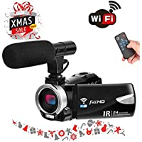 Digital Camera WiFi Camcorder Full HD 1080p 30FPS 24.0MP...
