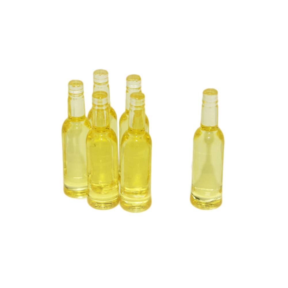 Qjdecoy 6Pcs Birra Bottiglia da Pranzo Bevande Simulazione Cucina Modello Miniatura Ornamento Giocattolo Regalo