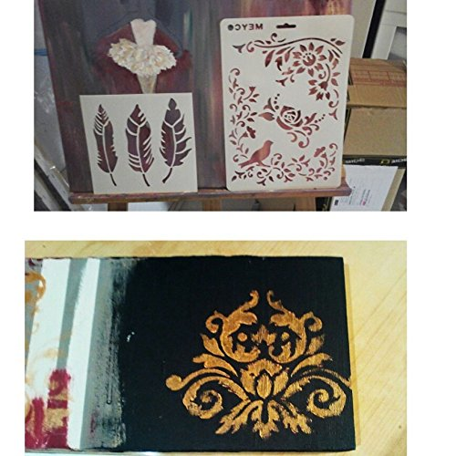 DIY Decorative Stencil Template for Painting on Walls Furniture Crafts by SLGIFT (Image #4)