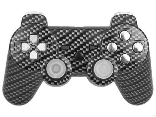 PS3 PLAYSTATION 3 Carbon Fiber Chrome Modded Controller (Rapid Fire) COD Black Ops 2- QUICKSCOPE, JITTER, DROP SHOT, AUTO AIM (Call Of Duty Black Ops 2 Sniper Rifles)