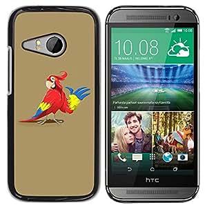 YiPhone /// Prima de resorte delgada de la cubierta del caso de Shell Armor - Friendly Parrot - HTC ONE MINI 2 / M8 MINI