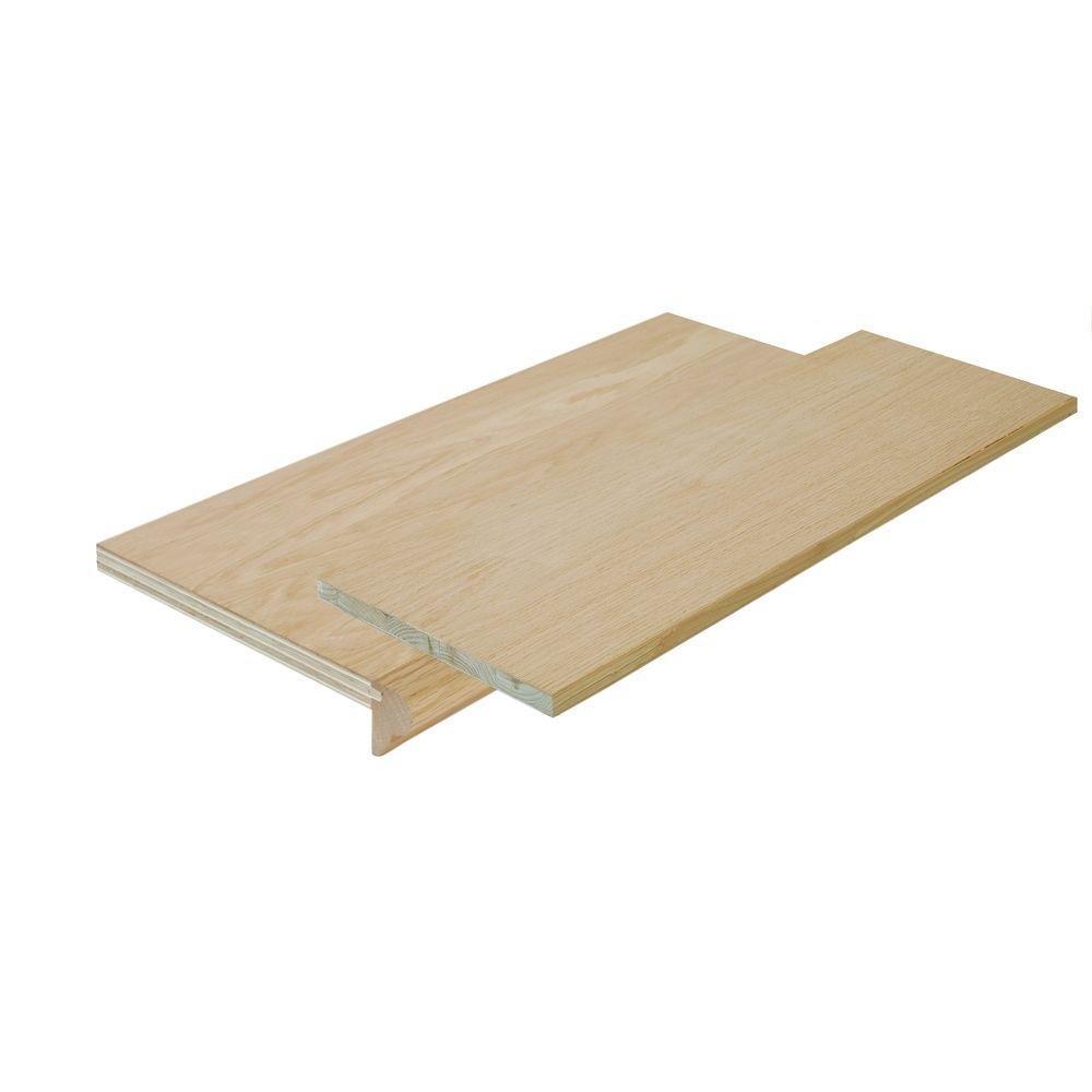Simple Tread SP125-4F048C 48-inch Oak False Stair Tread Cap and Riser Kit