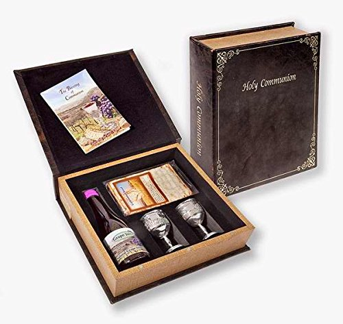 Holy Land Gifts 92201 Communion-Set-Grape Juice, Matzah Bread & 2 Silver Cups In Box (Silver Communion Cup compare prices)