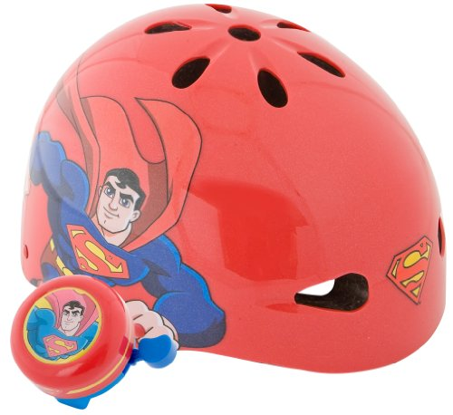 Pacific-Cycle-Superman-Hardshell-Helmet-Red