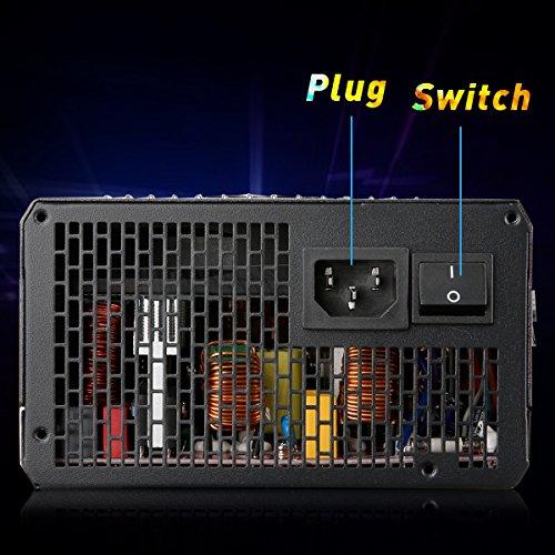 Excelvan Computer Modular Power Supply/PSU for PC/Desktop/ Gaming Computer,1300 Watt 80+ Bronze Certified PSU with Silent Fan,3-Year Warranty by Excelvan (Image #6)
