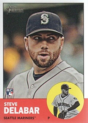 2012 Topps Heritage Baseball #358 Steve Delabar Seattle Mariners (Seattle Mariners Photo Album)