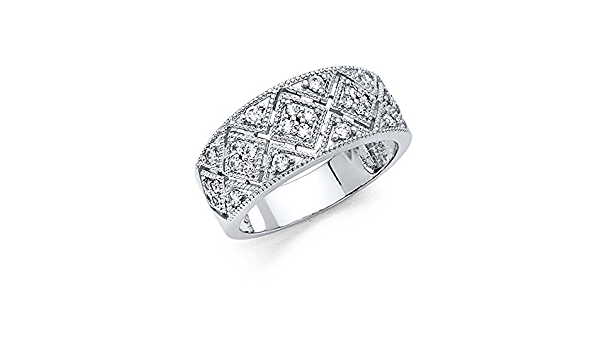 Ribbon Style 14k Gold Ring With Diamond Hand Jewelry Beautiful Party Gift CUJ
