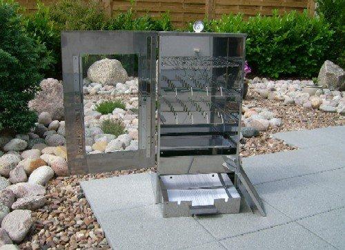 SMOKI Räuchertechnik Räuchertechnik Räuchertechnik Multifunktions Räucherofen aus V2A-Edelstahl mit Sichtfenster e60a39