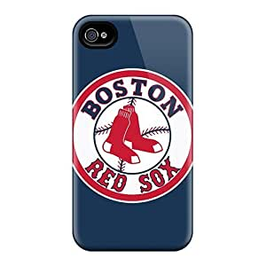 88caseme Apple Iphone 4/4s Excellent Hard Cell-phone Cases Support Personal Customs HD Baseball Boston Red Sox 1 Series [WnY1321JcGY]