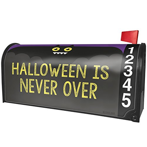 NEONBLOND Halloween is Never Over Halloween Funny Bat Magnetic Mailbox Cover Custom -