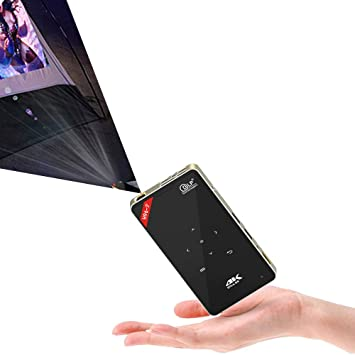 Amazon.com: Mini proyector portátil H96-P DLP proyector LED ...