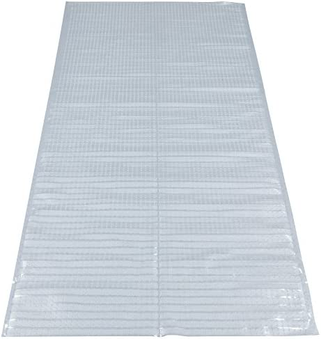 51f9ZtewKfL. AC Silk Road Concepts Clear Runner Rug Carpet Protector, 26X6    Features a durable material which is long lasting and easy to clean. Imported. Jute back, low pile, fade and wear resistant machine-made PVC. Features a durable material which is long lasting and easy to clean. Inherently stain, fade and wear-resistant for fuss-free maintenance.