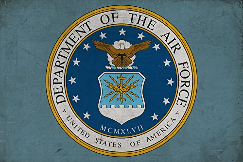 Department of the Air Force - Military - Insignia (9x12 Art Print, Wall Decor Travel Poster)