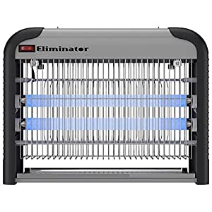 Eliminator Electronic Fly and Bug Zapper – 20 Watts, Protects 5,000 Sq. Ft. / Exterminates All Insect Pests - For Residential, Industrial and Commercial Use