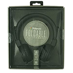 Polaroid Foldable Travel Over-The-Ear Headphones Black